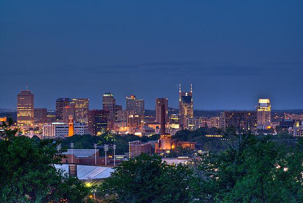 Nashville Photograph - Nashville Cityscape 7 by Douglas Barnett