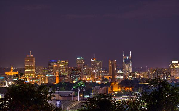 Nashville Photograph - Nashville Cityscape 9 by Douglas Barnett