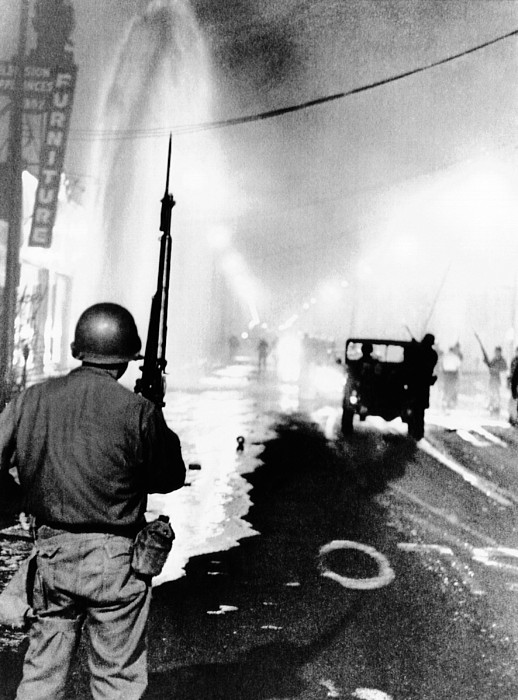 History Photograph - National Guard In Watts During The 1965 by Everett
