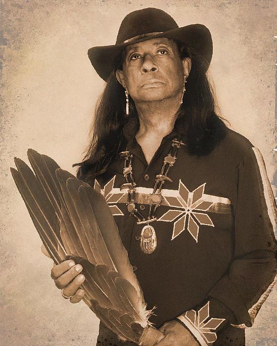 Indian Photograph - Native American Seer by Benjamin  Thomas