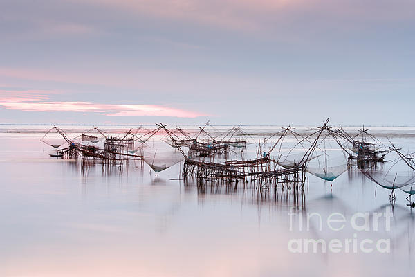 Agriculture Photograph - Native Asian Fishery by Buchachon Petthanya