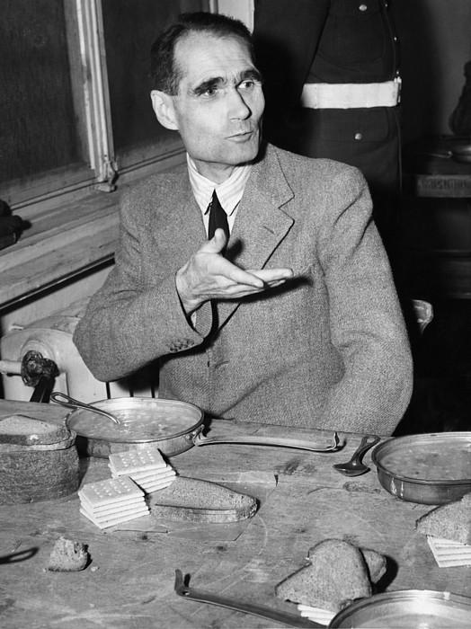 Bread Photograph - Nazi War Criminal Rudolph Hess Eating by Everett