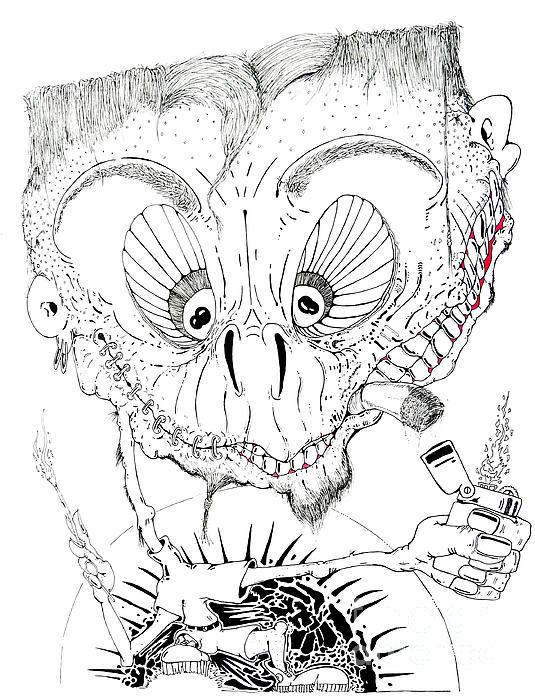 Art Drawing - Need A Light by Jack Norton