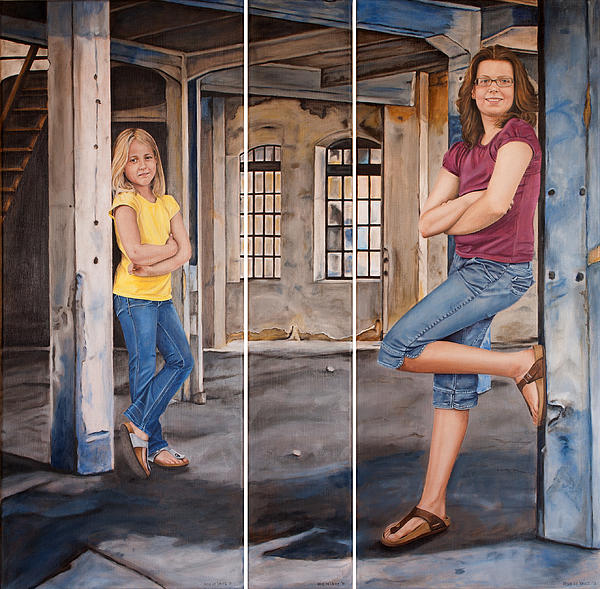Portrait Painting - Nina And Francis 2 by Rob De Vries