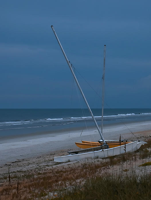 Sailboats Photograph - No Sailing Today by DigiArt Diaries by Vicky B Fuller