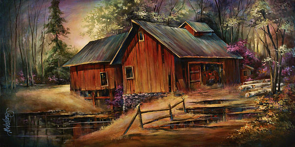 Landscape Painting - North Country by Michael Lang