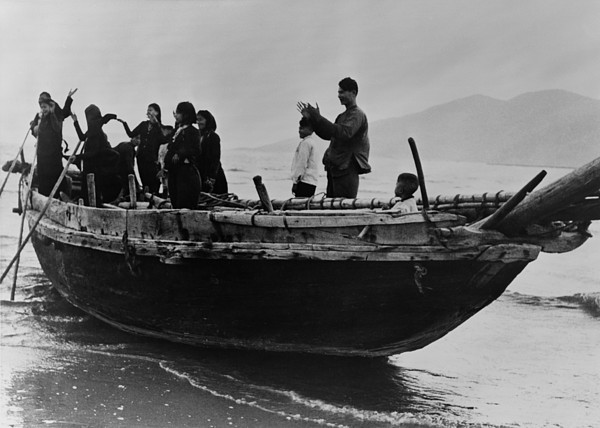 History Photograph - North Vietnamese Refugees Arrive At Da by Everett