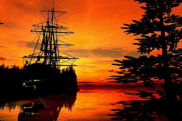 Sunset Digital Art - Northwest Anchorage by Timothy McPherson
