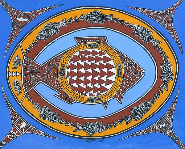 Northwest Fusion Fish Painting by Bart Theiler