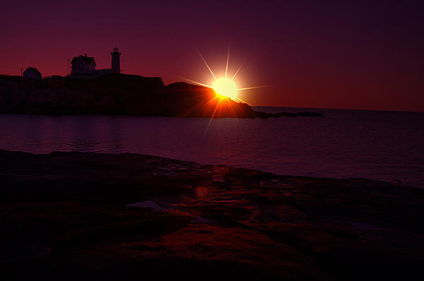 Nubble Lighthouse Photograph - Nubble Arise by Emily Stauring