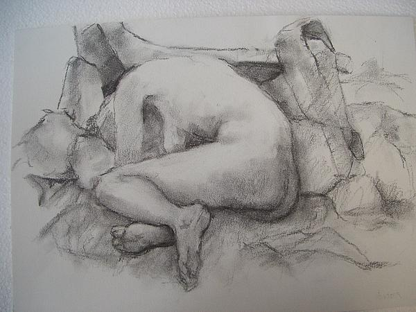 Nude Drawing Drawing - Nude Drawing by Alfons Niex