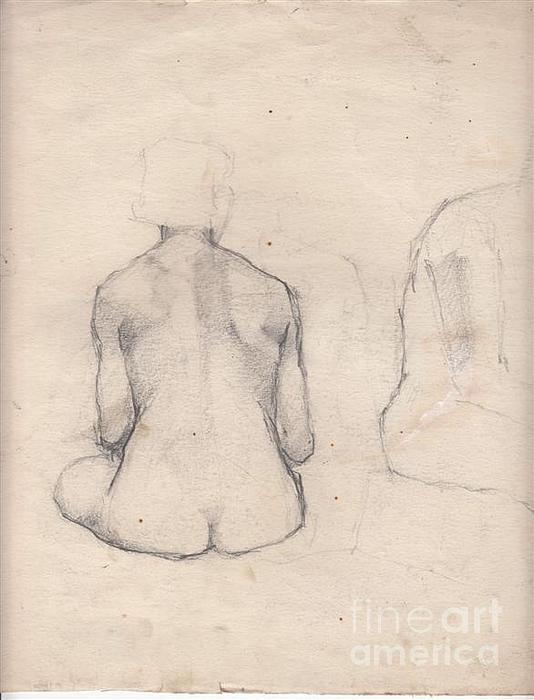 Drawing Drawing - Nude Study 4 by Brian Francis Smith