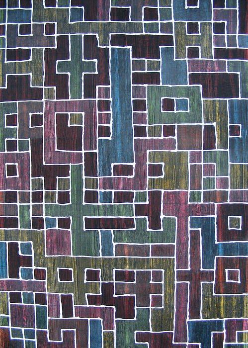 Acrylic Painting - Ode To Trapped Boundary by Pam Tapp
