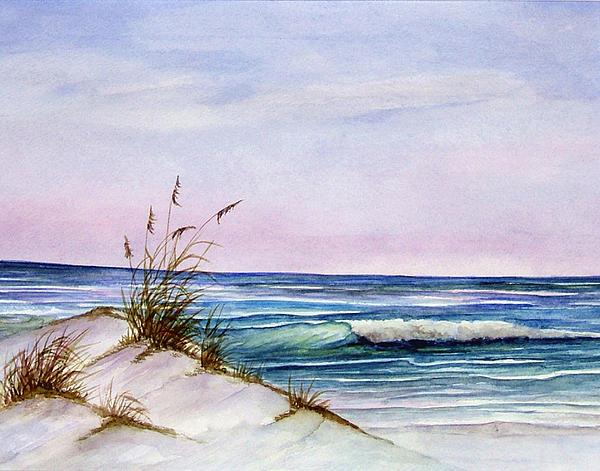 Watercolor Painting - Okaloosa Beach by Rosie Brown