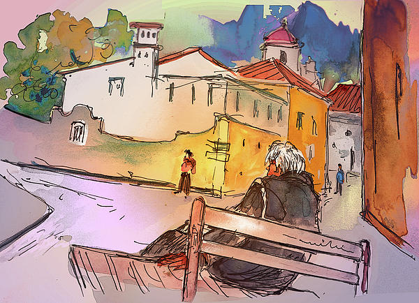 Portugal Painting - Old And Lonely In Portugal 07 by Miki De Goodaboom