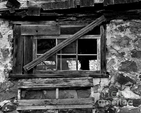 Barn Photograph - Old Barn Window by Perry Webster