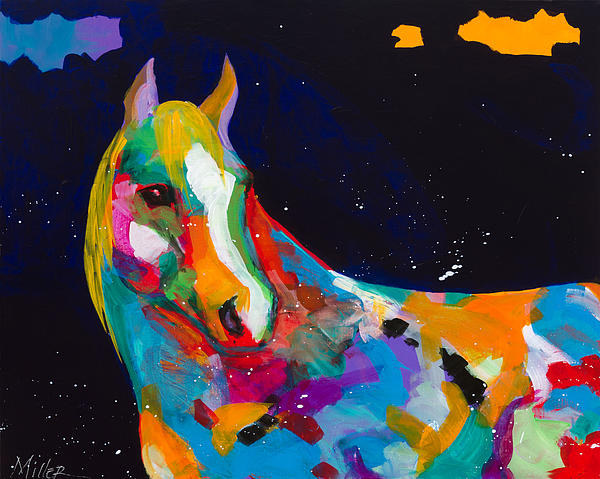 Contemporary Horse Painting - Old Bess by Tracy Miller