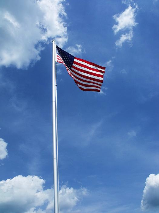 Stars And Stripes Photograph - Old Glory by Anna Villarreal Garbis