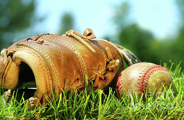 Ball Photograph - Old Glove And Baseball  by Sandra Cunningham