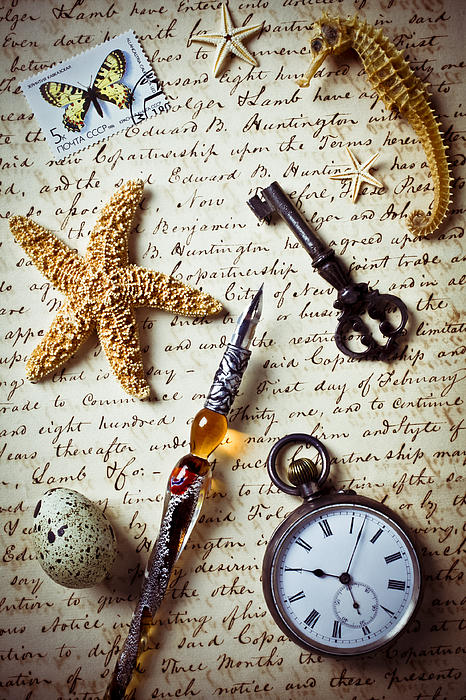 Letter Photograph - Old Letter With Pen And Starfish by Garry Gay