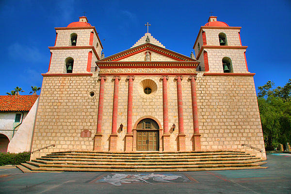 Mission Santa Barbara Photograph - Old Mission by Steven Ainsworth