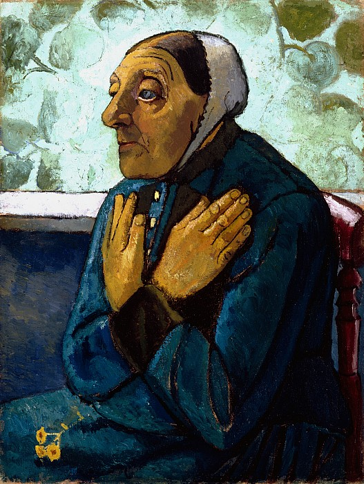 Old Painting - Old Peasant Woman by Paula Modersohn-Becker