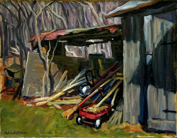 Oil Painting - Old Shed Berkshires by Thor Wickstrom