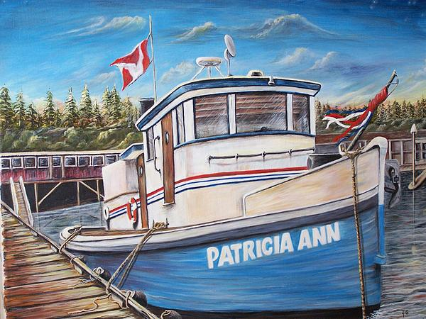 Tug Boat Painting - Old Tug by Anna Gitchel