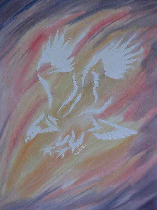 Eagle Painting - On Eagles Wings by Mark Schutter
