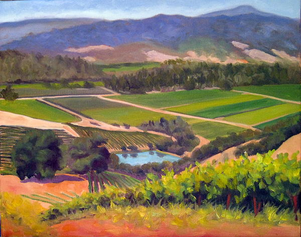 Vineyards Painting - On The Top by Char Wood