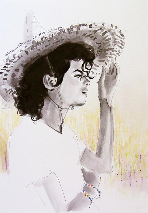 Michael Jackson Drawing - One Day In Your Life by Hitomi Osanai