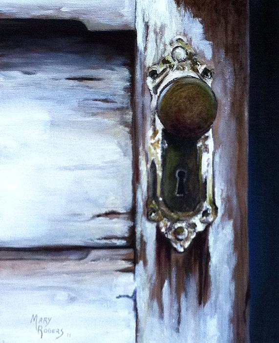 Door Painting - One Good Turn by Mary Rogers