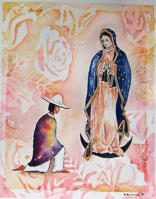 Guadalupe. Juan Diego Painting - Ora Pro Nobis by Regina Ammerman