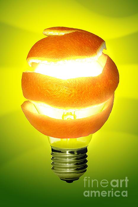 Abstract Photograph - Orange Lamp by Carlos Caetano