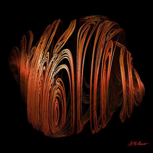Digital Digital Art - Orange Peel by Michael Durst