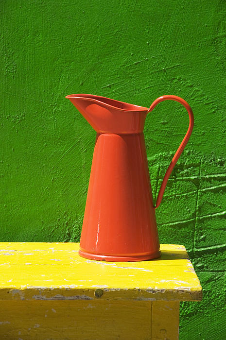 Pitcher Photograph - Orange Pitcher by Garry Gay