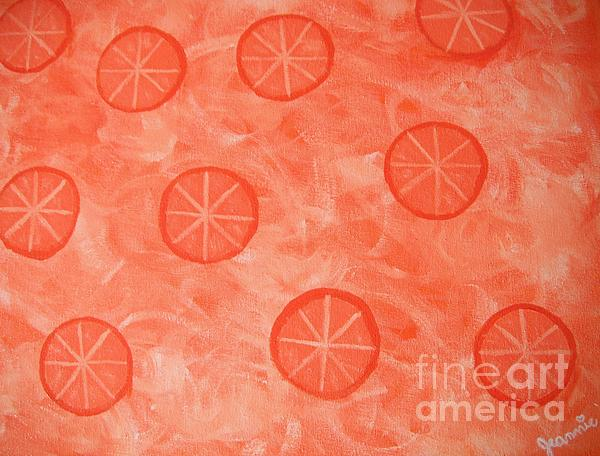 Orange Slices Painting - Orange Slices by Jeannie Atwater Jordan Allen