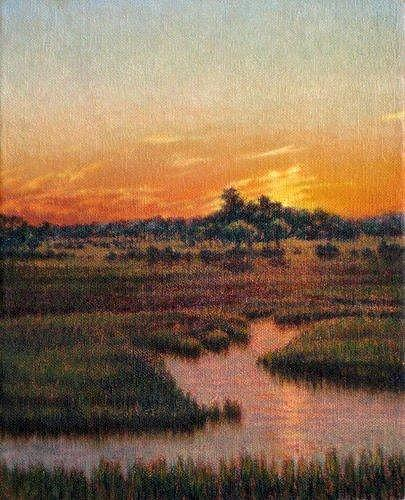 Marsh Scenes Painting - Original Lowcountry Luster by Michael Story