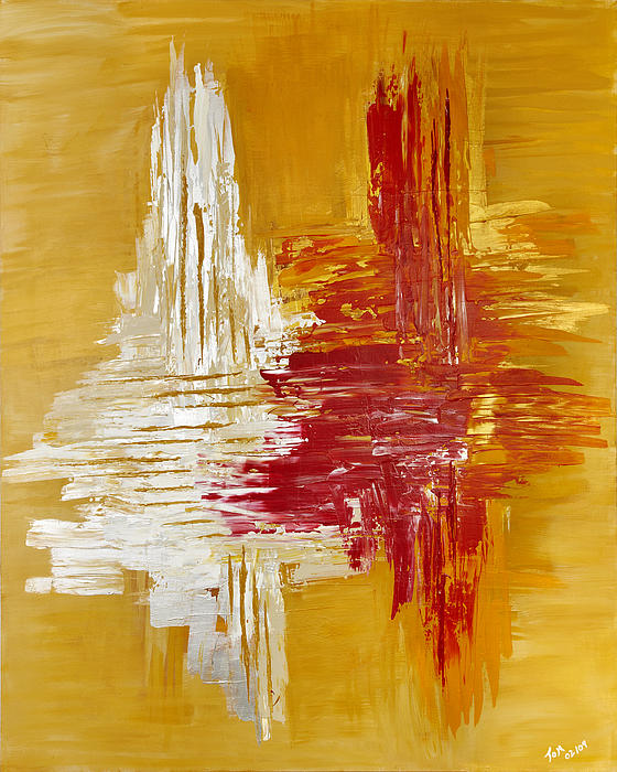 Abstract Art Painting - Oro De Plata by Thomas Kleiner
