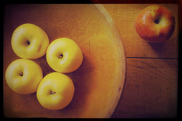 Apples Photograph - Out Of The Bowl by Toni Hopper