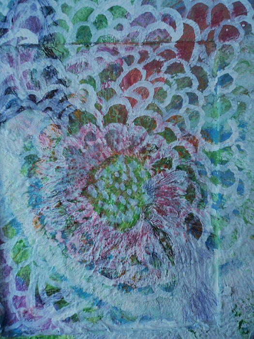 Floral Painting - Over The Edges Floral by Anne-Elizabeth Whiteway