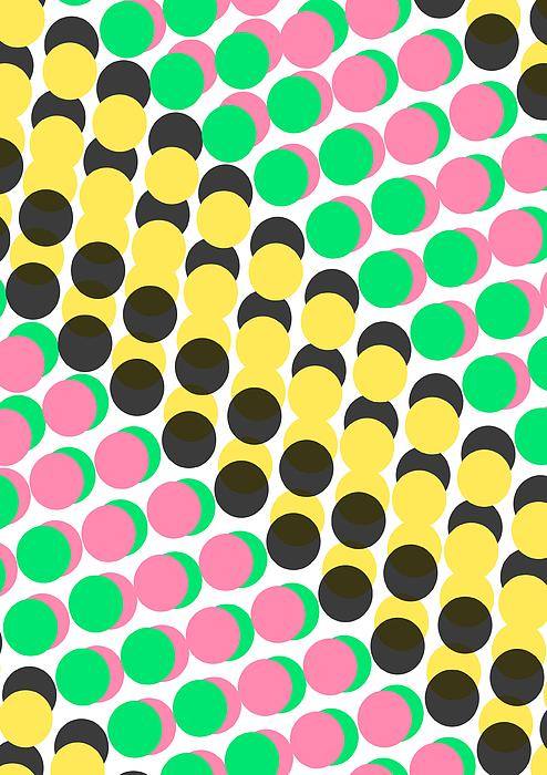 Overlayed Dots Digital Art - Overlayed Dots by Louisa Knight