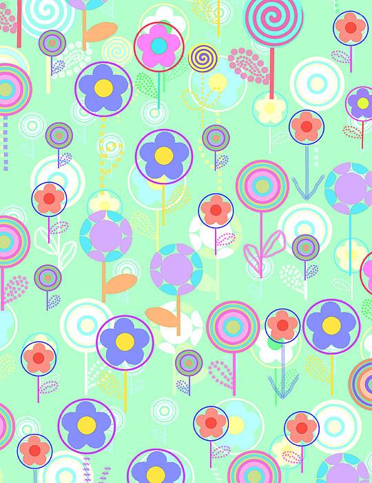 Louisa Digital Art - Overlayer Flowers  by Louisa Knight