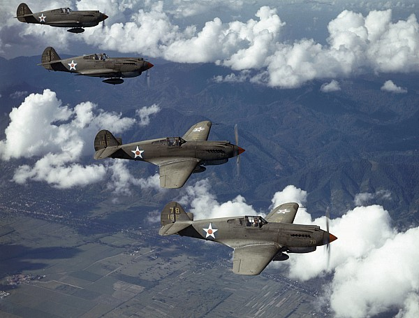 Day Photograph - P-40 Pursuits Of The U.s. Army Air by Luis Marden