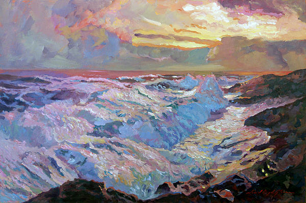 Seascape Painting - Pacific Ocean Blue by David Lloyd Glover