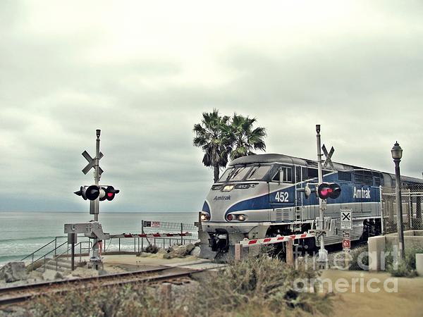Pacific Surfliner Photograph - Pacific Surfliner Amtrak Train by Traci Lehman
