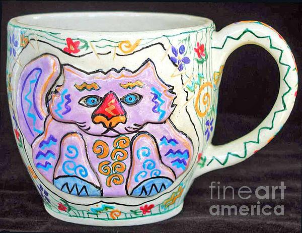 Cat Photograph - Painted Kitty Mug by Joyce Jackson