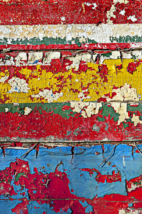 Paint Photograph - Painting Peeling Wall by Garry Gay