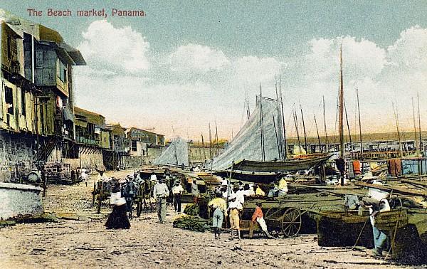 1910 Photograph - Panama City: Beach Market by Granger