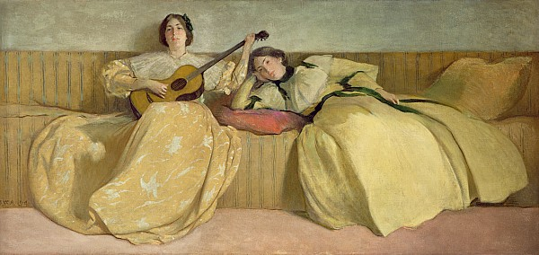 Panel Painting - Panel For Music Room by John White Alexander